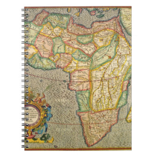Carnet Carte antique de Mercator de Vieux Monde de