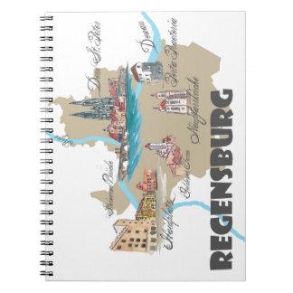 Carnet Carte de Ratisbonne Allemagne