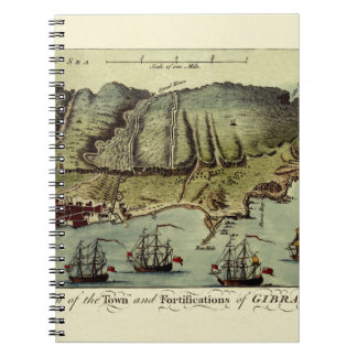 Carnet Carte du Gibraltar 1765