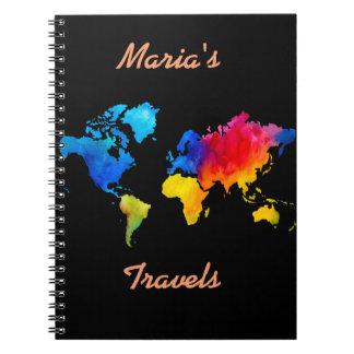 Carnet Carte du monde