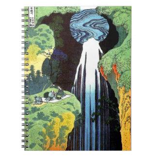 Carnet Cascade d'Amida, beaux-arts de Japonais de Hokusai