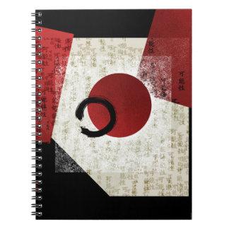 Carnet Cercle d'Ensō de zen avec le potentiel 1 de kanji