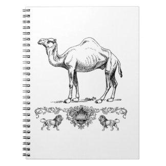 Carnet chameau de fantaisie de lion