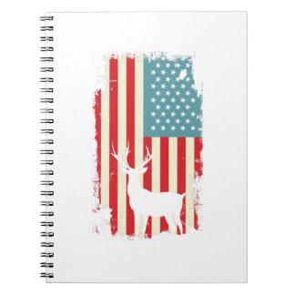 Carnet Chasseur américain de cerfs communs patriote pour
