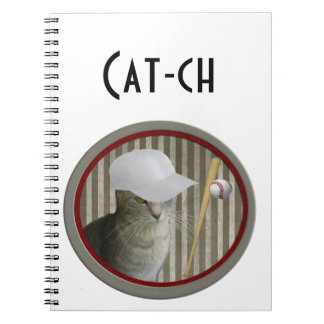 "Carnet Chat drôle de base-ball de ""crochet"" de"