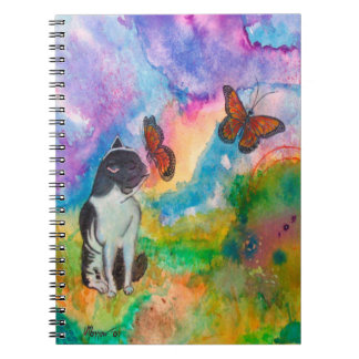 Carnet Chat et monarques 6,5 x 8,75