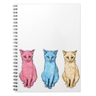 Carnet Chat rouge, chat bleu, chat jaune