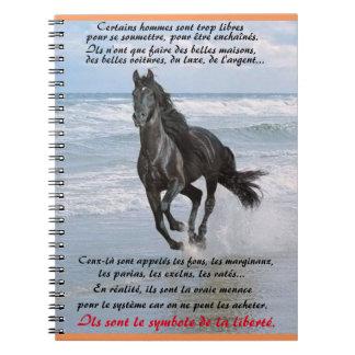 "carnet ""cheval noir"""
