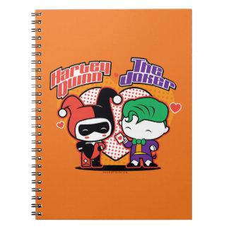 Carnet Chibi Harley Quinn et coeurs de joker de Chibi