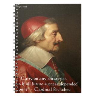 Carnet Citation de sagesse de succès de Cardinal