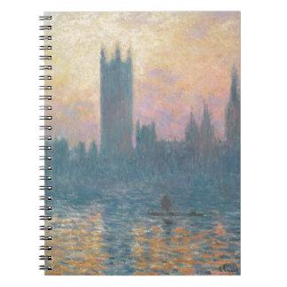 Carnet Claude Monet | les Chambres du Parlement, coucher