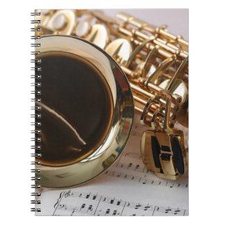 Carnet Clés de Notenblatt de lustre d'or de musique de