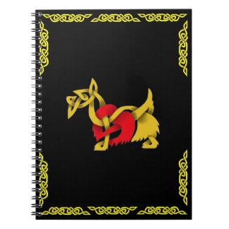 Carnet Coeur celtique avec de l'or celtique de Terrier