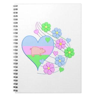Carnet Coeur de porc d'amusement