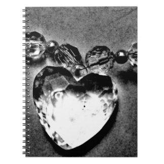 Carnet Coeur en cristal