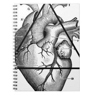Carnet Coeur triangle heart