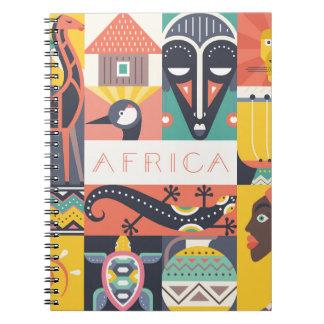 Carnet Collage symbolique africain d'art