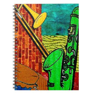 Carnet Collage terreux de jazz