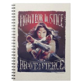 Carnet Combat de femme de merveille pour la justice