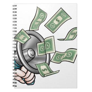 Carnet Concept d'argent de mégaphone