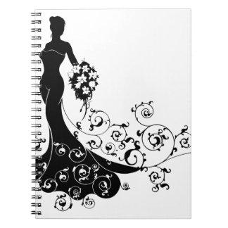 Carnet Concept de silhouette de mariage de bouquet de