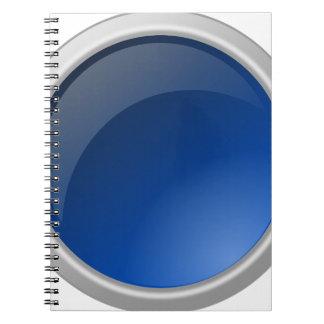 Carnet conception bleue de cercle de bouton