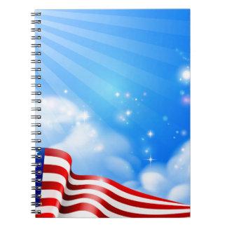 Carnet Conception d'arrière - plan de ciel de drapeau