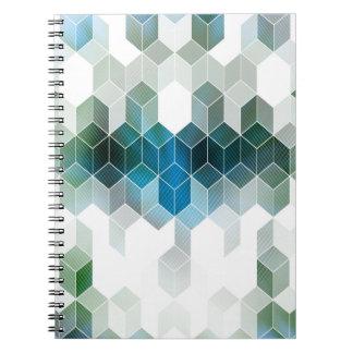 Carnet Conception graphique de cube bleu génial
