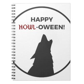 Carnet Conception heureuse de Halloween de loup-garou