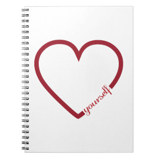 Carnet Conception minimalistic de coeur de l'amour