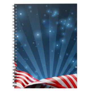 Carnet Conception patriotique ou politique de drapeau