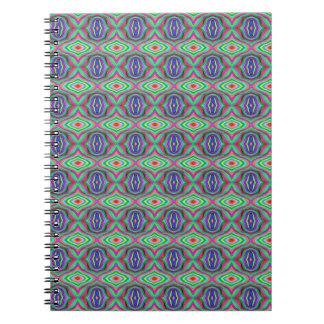 Carnet Conception psychédélique d'art de motif des années