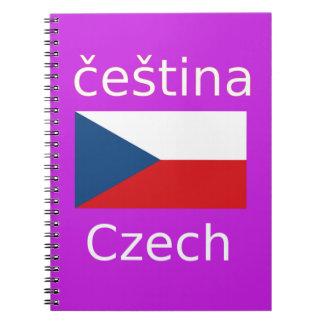 Carnet Conception tchèque de drapeau et de langue