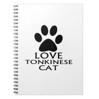 CARNET CONCEPTIONS DE CAT DE L'AMOUR TONKINESE