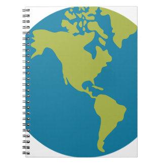 Carnet Conceptions de continents du monde de la terre de
