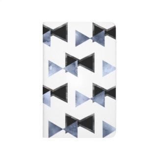 Carnet contemporain d'arc-cravate de triangle