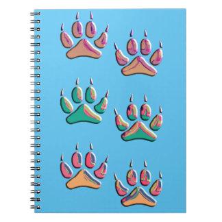 Carnet Copie colorée de loup