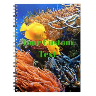 Carnet Corail sous-marin tropical