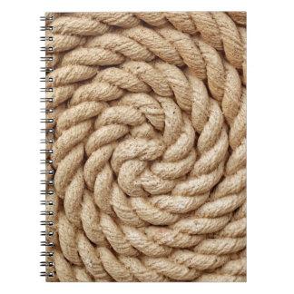 Carnet corde, marque ronde de conception de cercle de