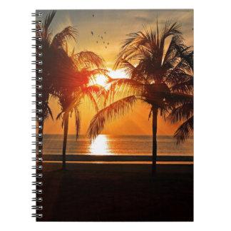 Carnet Coucher du soleil tropical