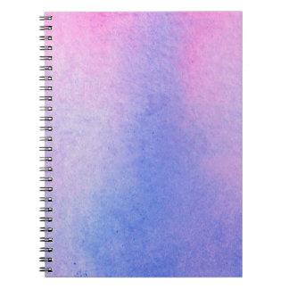 Carnet Couleur pour aquarelle de marbre rose et bleue