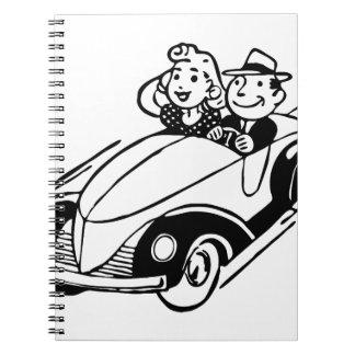 Carnet Couples vintages de voiture