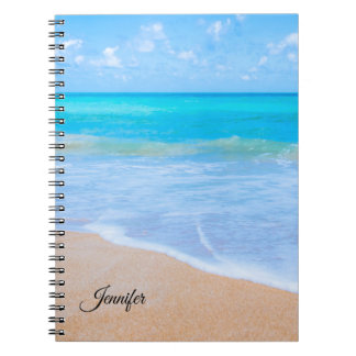 Carnet Coutume tropicale de photo de scène de plage
