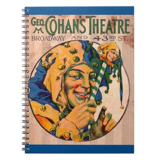 Carnet couverture d'affiche du théâtre de Cohan des