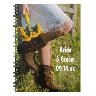 Carnet Cow-girl et mariage occidental de pays de
