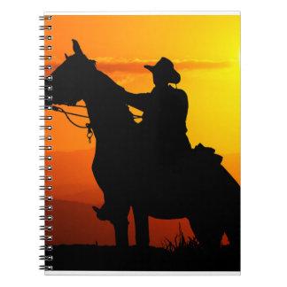Carnet Cowboy-Cowboy-soleil-occidental-pays de coucher du