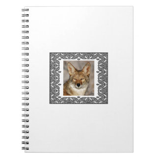 Carnet coyote dans un cadre