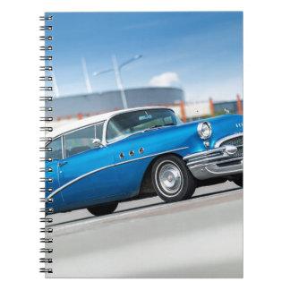 Carnet Cru classique bleu de vieille voiture du Special