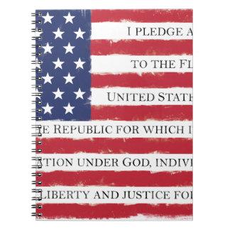 Carnet Cru d'engagement de drapeau américain