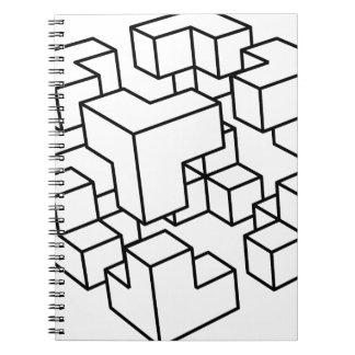 Carnet Cube abstrait
